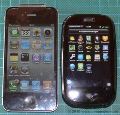 Apple iPhone 4 und Palm Pre Größenvergleich