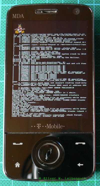 HTC Touch Pro booting Android