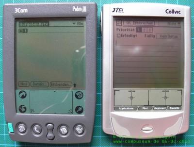 Vergleich CellvicOS - PalmOS 2