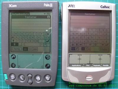 Vergleich CellvicOS - PalmOS 3
