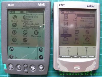 Vergleich CellvicOS - PalmOS 4