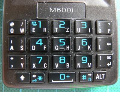 Sony Ericsson M600i Tastatur