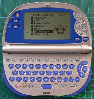 T-D1 Messenger 500 geöffnet
