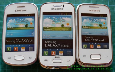Samsung Galaxy Star, Young und Pocket