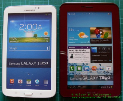 Samsung Galaxy Tab 2 und Tab 3