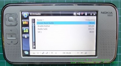 Nokia N800 Radio