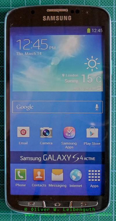 Samsung Galaxy S4 Active vorne