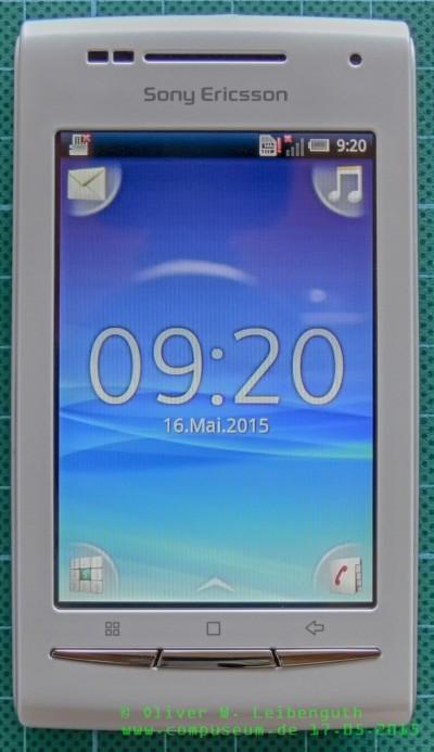 Sony Ericsson Xperia X8 Front