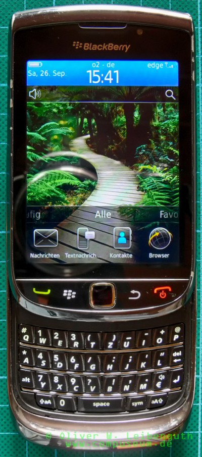 Blackberry Torch 9800 offen