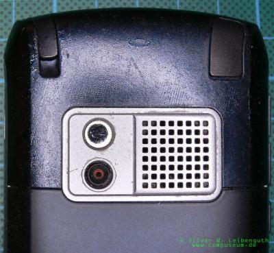 Treo 750 Rückseite, Soft-Touch-Beschichtung Closeup