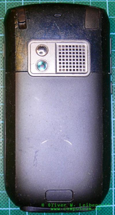 Treo 750 Rückseite, Soft-Touch-Beschichtung