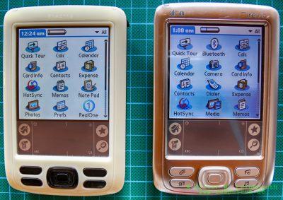 Palm Zire 72 EVT-Prototyp und Palm Zire 72s
