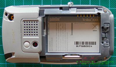 Palm Treo 680 EVT-Prototyp Typenschild