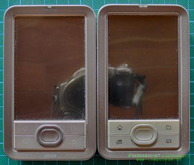 Palm LifeDrive EVT-Prototyp und Palm LifeDrive Vorderseite